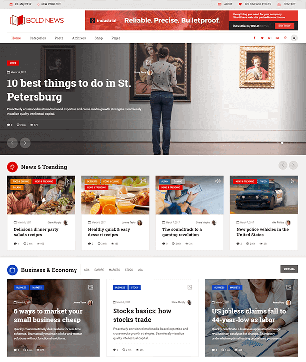 Bold News wordpress theme