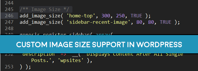 add custom image size support in wordpress media uploader