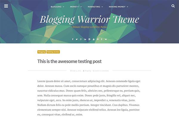 blogging-warrior-theme