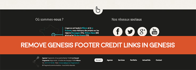change footer credit links in genesis theme