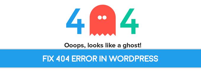 fix 404 error in wordpress