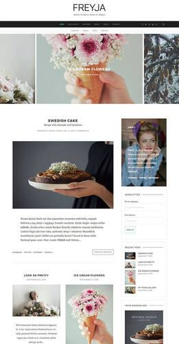 freyja personal blogging theme