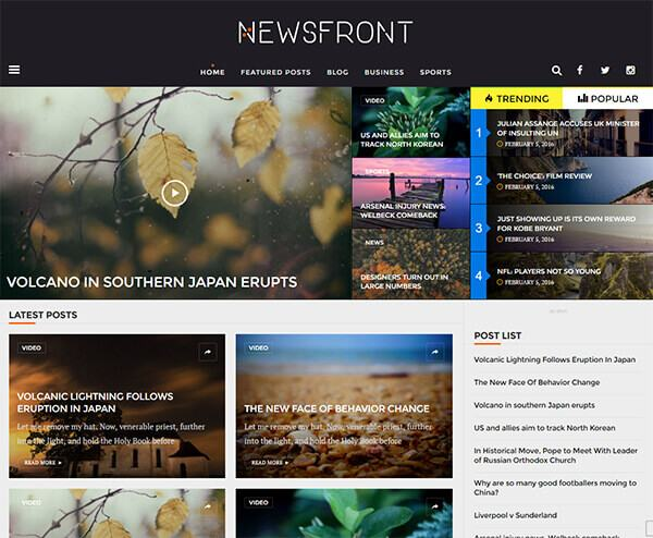 newsfront ecommerce ready magazine theme