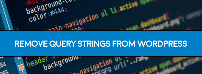 remove query string from wordpress