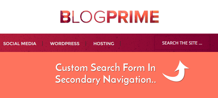 Add Search Form To Secondary Navigation Menu In Genesis