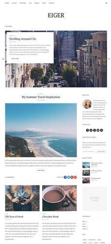 eiger responive blog theme