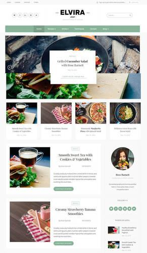 elvira food blogging theme