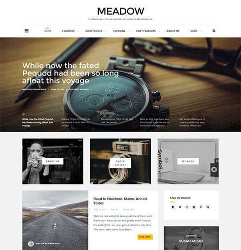 Meadow personal blogging theme for wordpress