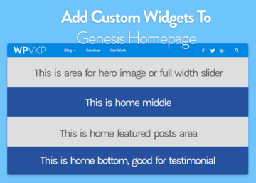Add Custom Homepage Widgets in Genesis Theme [Tutorial#12]
