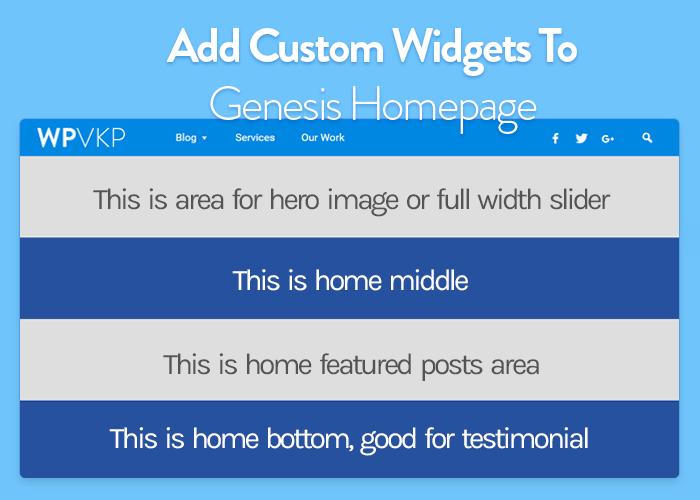 how to register custom widgets in homepage in genesis theme framework