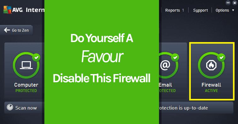 disable avg firewall