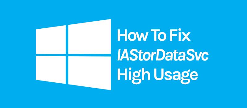 fix high cpu usage by IAStorDataSvc