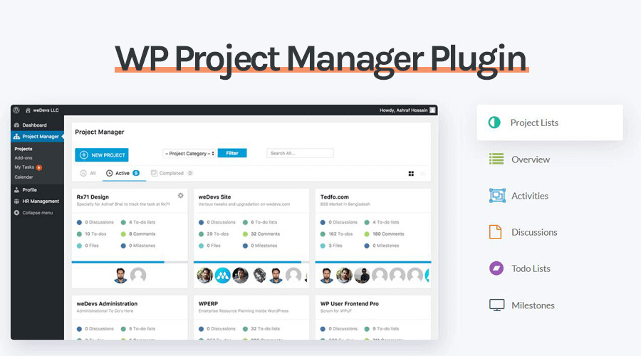 Top 15 WordPress Project Management Plugins for 2017 - WPVKP