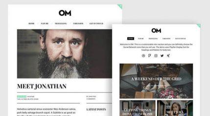 OM A Stylish WordPress Blogging Theme