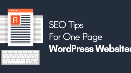 SEO Tips for One Page WordPress Websites