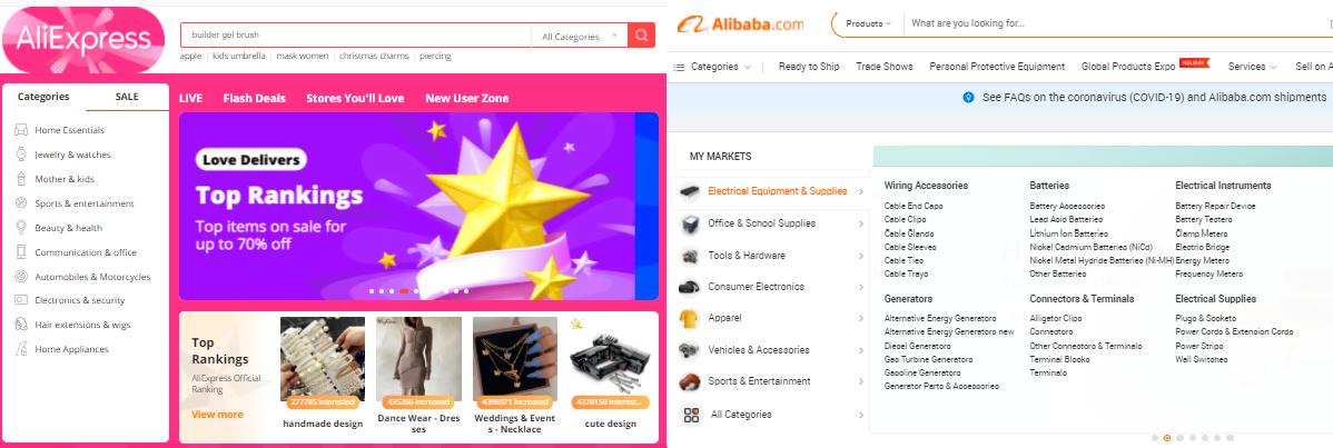 Aliexpress & Alibaba