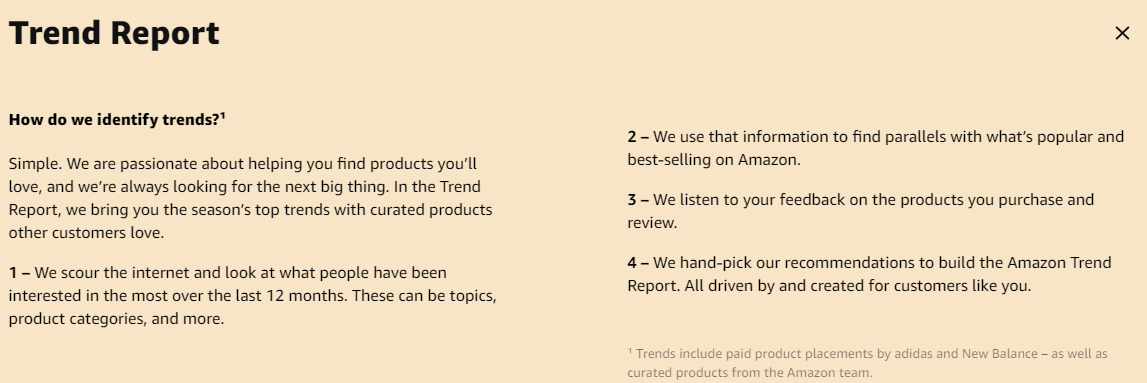 Amazons Trend report