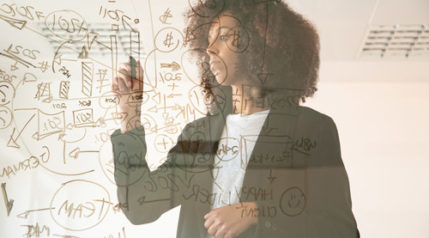focused-young-businesswomen-writing-virtual-board-concentrated-young-african-american-female-manager-holding-marker-making-noted-chart-strategy-business-management-concept